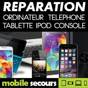 Mobile Secours CAHORS CSX réparation téléphone, tablette, console, ordinateur, iPod